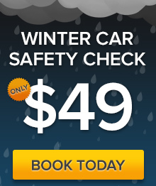 Book your car in for a $49 Winter safety check. 17 point check.